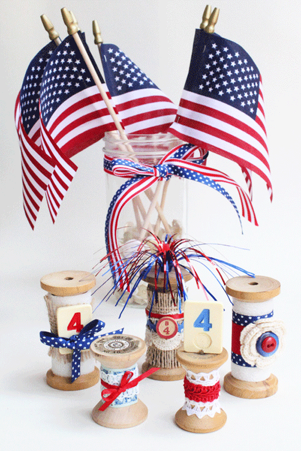 4th Of July Decorations Using Vintage Finds Flashback Lyndacreates