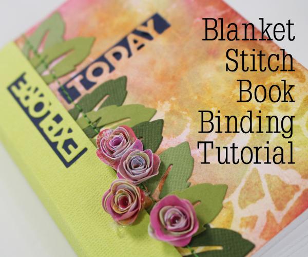 Blanket Stitch Binding Mini Book Tutorial