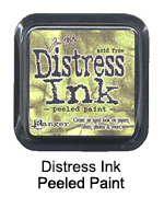 Distress ink peeled paint