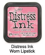 Distress Ink worn lipstick