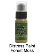 Distress paint forest moss