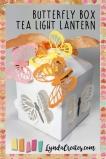 sizzix butterfly box tea light pin