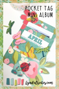LyndaCreates Newsletter Pocket Tag Mini Album pin