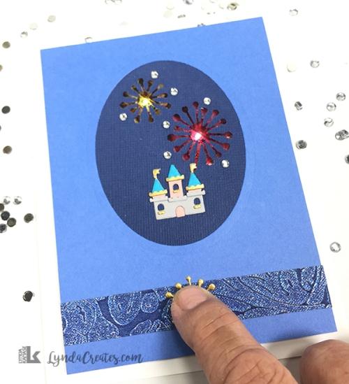 Magic Castle Fireworks Card