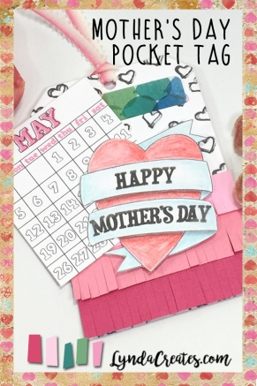 May Mothers Day pocket tag pin