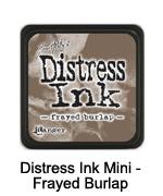 Distress Ink Frayed Burlap mini